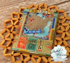 Welcome to day two of Jaded Blossom's sneaky peeks. Today we are showcasing two new stamp sets, Sweet Travels and United States Map. Travel Stamp, Travel Cards, United States Map, 3d Paper Crafts, State Map, Punch Art, Craft Projects, Project Ideas, Mini Albums