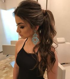 65 Gorgeous Ponytail Hairstyles You'll Love To Try Daily - Page 20 of 65 - Chic Hostess - Schönheit und Gesundheit - Hair Styles Trendy Hairstyles, Wedding Hairstyles, Prom Ponytail Hairstyles, Bridesmaid Hair Ponytail, Hairstyle Ideas, Low Pony Hairstyles, Party Hairstyles For Long Hair, Ponytail Hairstyles Tutorial, Gorgeous Hairstyles