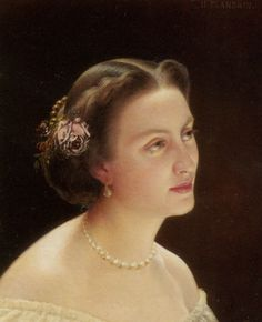 """Hippolyte Flandrin: """"Portrait of A Lady Bust"""", 1860, Location unknown."""