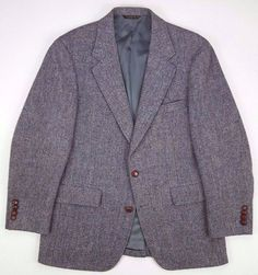 Clothing, Shoes & Accessories Stafford Mens Two Button Tweed Sport Coat Size 46l Brown Buttons Elbow Patch Aesthetic Appearance
