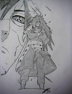Madara Uchiha drawing by TheChiefAssassin by TheChiefAssassin on DeviantArt Naruto Shippuden Sasuke, Anime Naruto, Naruto Madara, Naruto Art, Manga Anime, Boruto, Sasuke Sarutobi, Shikamaru, Naruto Drawings