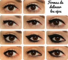 Diferente formas de deliniar los ojos