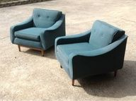 Indianapolis: Pair of Mid Century Club Chairs  $600 - furnishlyst.com/...