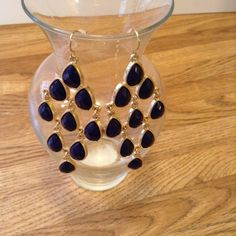 Spotted while shopping on Poshmark: Dark blue statement earrings! #poshmark #fashion #shopping #style #Uncommon #Jewelry