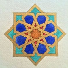 All done! Well that never happens! I saw it through to the end without starting a new project in the middle! Islamic Art Pattern, Arabic Pattern, Geometry Pattern, Geometry Art, Sacred Geometry, Pattern Art, Arabic Design, Arabic Art, Motifs Islamiques