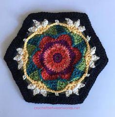 Crochet between worlds: Frida's Flowers CAL - Block 6 - Ring of Roses (back)