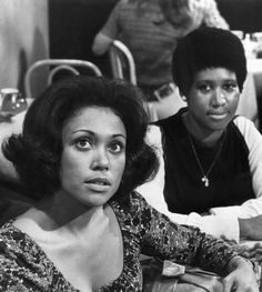 Aretha Franklin and actress Denise Nicholas