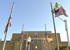 PHOTO: Flags fly at half-staff for Col. Bud Day