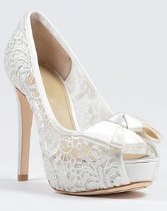 Awesome open lace shoes! Wish I had these for my wedding!!!