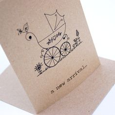 A new arrival baby card.