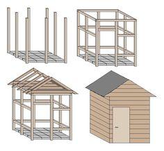 Gartenhäuser selber bauen aus Holz
