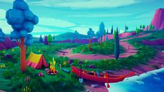 Low Poly Stylized Environment by Emek Ozben in Environments - Marketplace Art Cube, Low Poly Games, Low Poly 3d, Unreal Engine, 3d Assets, 3d Artist, Environment Design, Environmental Art, Art Google