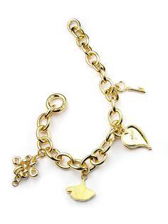 Diane von Furstenberg by H.Stern collection. Talisman bracelet in 18K yellow gold by H.Stern.
