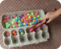 Fine tune motor skills whilst reinforcing simple #maths! #sensory #SEN #PGCE #NQT #teacher