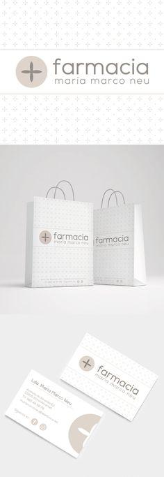 Diseño de identidad visual para la imagen de Farmacia María Marco Neu, en Elche, Alicante. Una farmacia única con una imagen muy personal. #imagencorporativa #branding #diseñografico #papeleriacorporativa #farmacia