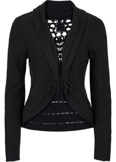knitted cardigan with crochet lace <3