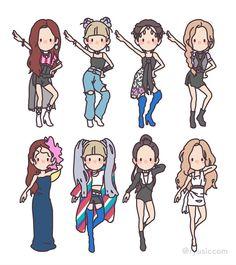 """Kill This Love"" - Blackpink Fanart Manga, Kpop Fanart, Fan Art, Blackpink Wallpaper, Character Art, Character Design, Blackpink Memes, Kpop Drawings, Blackpink Video"