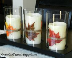 Fall DIY Crafting - Spruce up Your Candles :: Hometalk