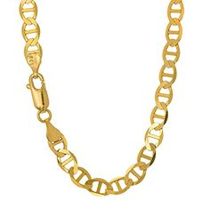 JewelStop 14k Solid Yellow Gold 32 mm Mariner Anklet Lobster Claw Clasp  10 Inche >>> Click on the image for additional details.