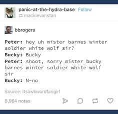 Bucky and Peter