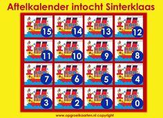 Sinterklaas-intocht, aftelkalender met stoombootjes
