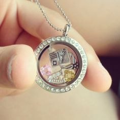 my Air Force girlfriend locket from origami owl.