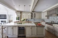 Painted-Warm-Grey-Kitchen-in-Winnetka