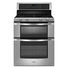 Whirlpool 6.0 cu. ft. Double Oven Gas Range with Self-Cleaning Oven in Stainless Steel-WGG555S0BS at The Home Depot $1349.00 (5 stars 3 reviews) Best Buy $1147.99