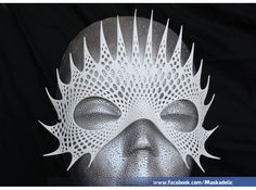 Mystical Mind does Shapeways 3D printed masks. So beautiful and only $20