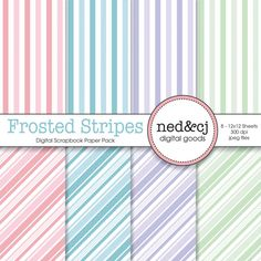 Digital Scrapbook Paper Pack  Frosted Stripes  by nedandcjdigital  https://www.etsy.com/listing/95427901/digital-scrapbook-paper-pack-frosted?ref=shop_home_active_1