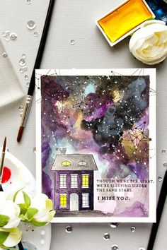 Simon Says Stamp | We're Sleeping Under The Same Stars Galaxy Card
