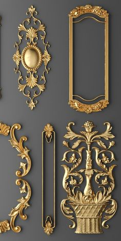 frame cartouches SET Model available on Turbo Squid, the world's leading provider of digital models for visualization, films, television, and games. Decoration Baroque, Gypsum Decoration, Molduras Vintage, Luminaire Vintage, 3d Frames, 3d Cnc, Wall Molding, Moldings, Creation Deco