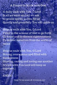 Powerful Morning Prayer to Walk Daily with God God Prayer, Power Of Prayer, Daily Prayer, Powerful Morning Prayer, Morning Prayers, Religious Quotes, Spiritual Quotes, Prayer Changes Things, Christian Prayers