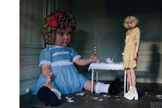 visual optimism; daily fashion fix.: like a doll: lindsey wixson by tim walker for vogue italia january 2012