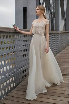 Limor Rosen 2015 Collection wedding dress soft and romantic with two pieces chiffon lace
