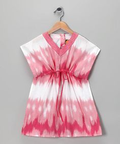Pink Tie-Dye Dress - zulily