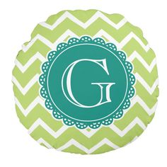 Girly Lime Chevron Lacey Circle With Teal Monogram Round Throw Pillow http://www.zazzle.com/lime_chevron_teal_monogram_round_pillow-256460152047990631?rf=238835258815790439&tc=OSGRoundPillowsPin