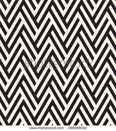 Vector seamless pattern. Repeating zigzag texture. Graphic striped background. - stock vector