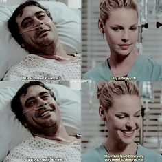 Izzie and Denny Greys Anatomy Love Quotes, Greys Anatomy Season 1, Greys Anatomy Episodes, Greys Anatomy Couples, Greys Anatomy Facts, Grays Anatomy, Izzie And Denny, Izzie Stevens, Greys Anatomy