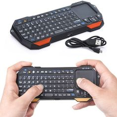 New Ultra thin Mini Wireless Bluetooth Keyboards Mouse Touchpad For Windows Android iOS (Steampunk Gadgets Mad Scientists) Keyboard With Touchpad, Bluetooth Keyboard, Bluetooth Gadgets, Mini Keyboard, Wireless Speakers, Cool Technology, Technology Gadgets, Futuristic Technology, Gadgets Techniques