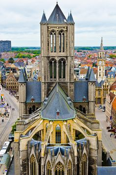Nicholas' Church is one of the oldest and most prominent landmarks in Ghent, Belgium Beautiful Buildings, Beautiful Places, Places To Travel, Places To See, Places Around The World, Around The Worlds, St Nicholas Church, Ghent Belgium, Scotland Castles