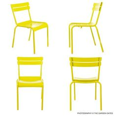 Get insight, tips, and advice about French Bistro Furniture for the home. Learn about French Bistro Furniture here. Garden Design Magazine, Stacking Chairs, French Bistro, Bistro Set, White Home Decor, White Houses, Garden Gates, Side Chairs, Luxembourg