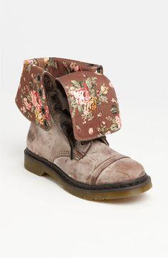 Fancy floral combat boots