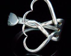 Fork Bracelet Eco Friendly Recycled Silverware by MarchelloArt