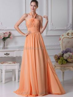 Cheap floor length bridesmaid dress, Buy Quality bridesmaid dress wedding directly from China bridesmaid dresses Suppliers: Chiffon A Line Halter Sleeveless Beading Floor Length Bridesmaid Dresses Wedding party dresses robe de soiree 80720 Peach Color Bridesmaid Dresses, Discount Bridesmaid Dresses, Orange Bridesmaid Dresses, Prom Dress 2014, Best Prom Dresses, Dresses 2014, Amazing Dresses, Pageant Dresses, Quinceanera Dresses