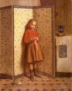 Girl, Władysław Czachórski (1850 – 1911, Polish), I AM A CHILD-children in art history-blog