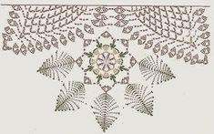 Doily f&l diagram 2 Crochet Tree, Crochet Motifs, Crochet Diagram, Crochet Doilies, Crochet Flowers, Crochet Patterns, Pineapple Crochet, Table Runner Pattern, Table Toppers