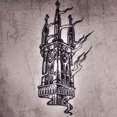 Burning church #line #lineart #linework #tatt #tatts #tattoo #tattoos #tattooart #ink #inked #art #alchemy #magic #moscow #artwork #graphic #gravure #engraved #engraving #draw #death #design #dotwork #drawing #dotworktattoo #тату #татуировка #art #illustration #dailytattoos #blackworkers