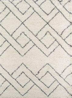 "Momeni Rugs MAYA0MAY-6IVY93C6 Maya Collection, Ultra Thick Pile Shag Area Rug, 9'3"" x 12'6"", Ivory"