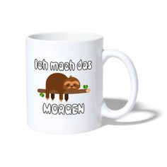 Mugs, Coffee, Tableware, Hot Coffee, Sloth Animal, Products, Animales, Kaffee, Dinnerware